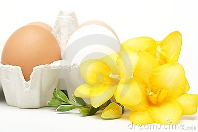 Eggs with flower