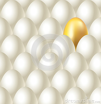 Eggs and golden egg seamless  background