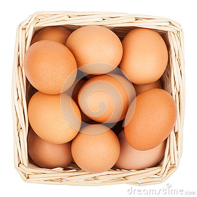 Free Eggs In A Basket Stock Images - 96401504