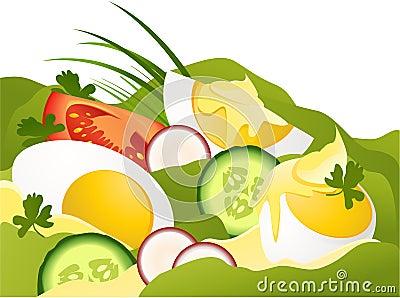 Eggs with mayonnaise