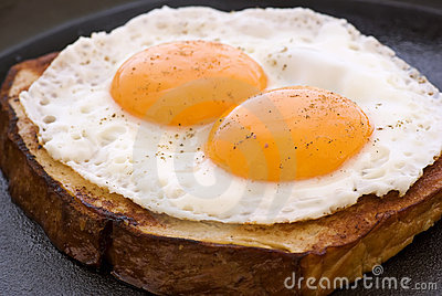 Eggs on Meat