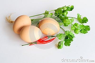 Eggs mix chilli vegetable