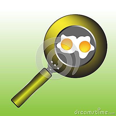 Eggs in a pan