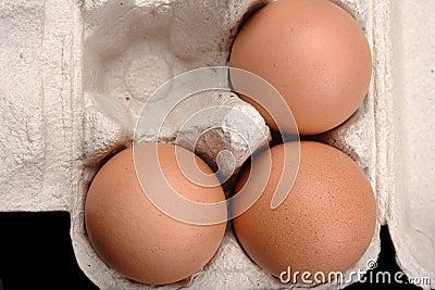 Eggs in paper box.