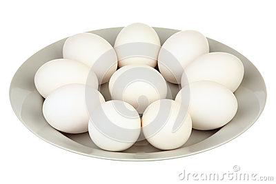 Eggs in a plate