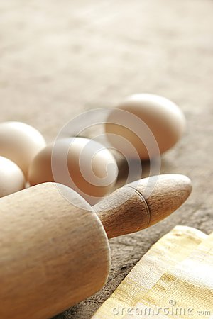 Eggs and rolling-pin