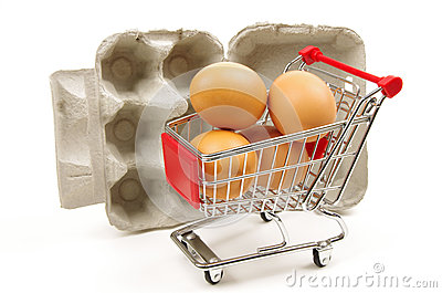 Eggs trolley and egg box
