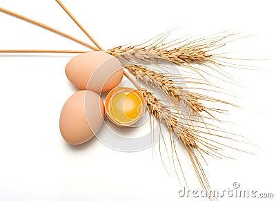 Eggs and wheat ear