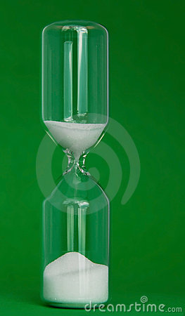Eggtimer on green