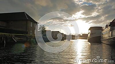 Żeglować przez kanałów Kopenhaga zdjęcie wideo