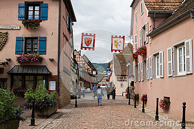 Eguisheim village in France Editorial Photography