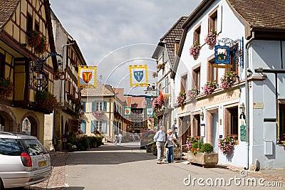 Eguisheim village in France Editorial Stock Image