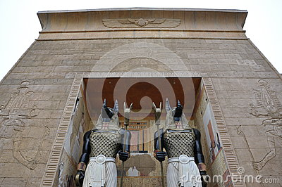 Egypt arch and guards