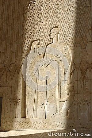 Egypt Aswan monument near new dam