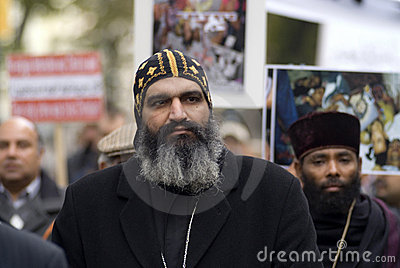 Egypt Christian demonstrate in Vienna Editorial Stock Image
