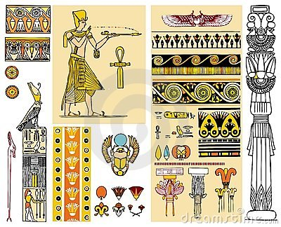 Egypt design elements