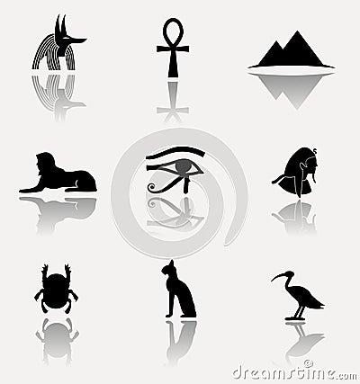 Free Egypt Icon Set. Stock Photo - 45977830