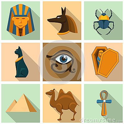 Free Egypt Icon Set Royalty Free Stock Photo - 53386715