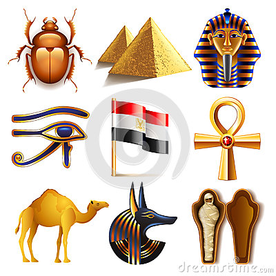 Free Egypt Icons Vector Set Royalty Free Stock Photo - 68987395