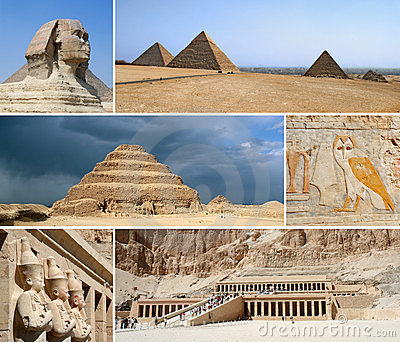 Egypt Landmark Collage