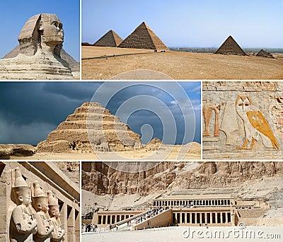 Egypt Landmark Collage