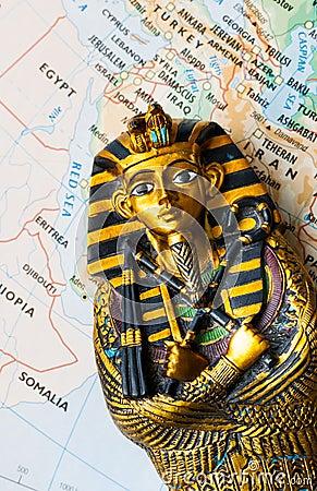 Egypt map pharaoh