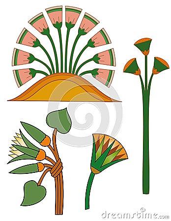 Egypt ornament& lotos flowers