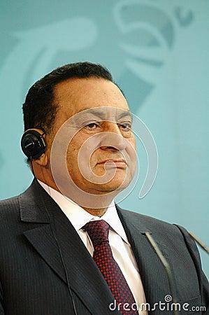 Egypt president Hosni Mubarak Editorial Stock Image