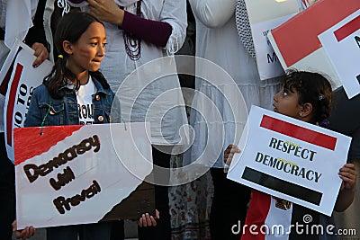Egypt Protest Mississauga E Editorial Stock Photo
