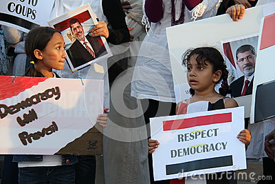 Egypt Protest Mississauga F Editorial Stock Image