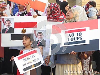 Egypt Protest Mississauga I Editorial Image