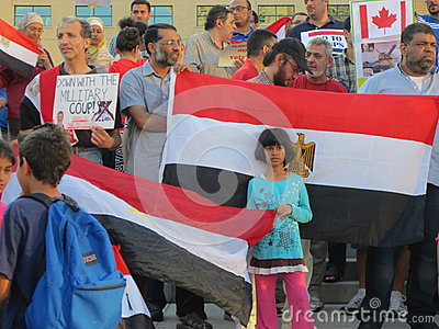 Egypt Protest Mississauga K Editorial Photography