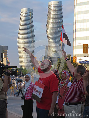 Egypt Protest Mississauga L Editorial Photo