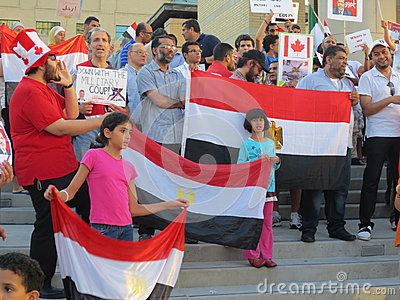 Egypt Protest Mississauga M Editorial Stock Photo