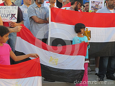 Egypt Protest Mississauga N Editorial Photography