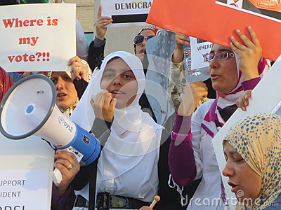 Egypt Protest Mississauga R Editorial Image
