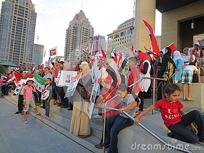 Egypt Protest Mississauga S Editorial Photography