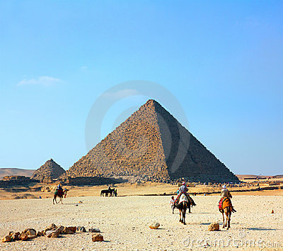 Egypt pyramids in Giza Editorial Photo