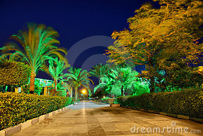 Egypt resort night hdr