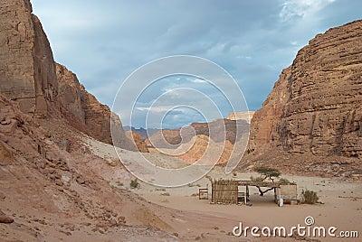 Egypt. Sinai. Coloured canyon among mountains
