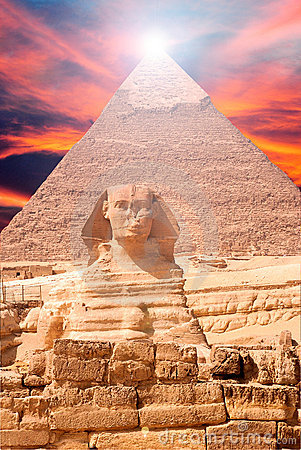 Free Egypt Sphinx Landscape Royalty Free Stock Photos - 11992918