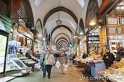 Egypt (Spice) Bazaar, Istanbul, Turkey Editorial Image