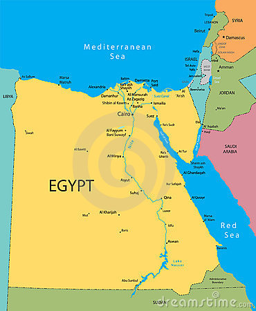 Free Egypt Vector Map Stock Photo - 7452540