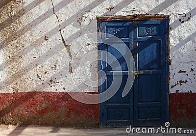 Egyptian Blue Door