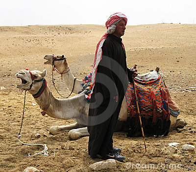 Egyptian camel minder Editorial Stock Image
