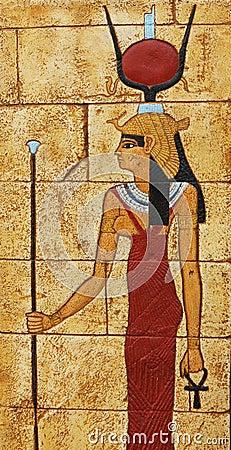 Egyptian carved symbol
