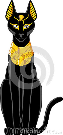 Egyptian Black Cat Clipart