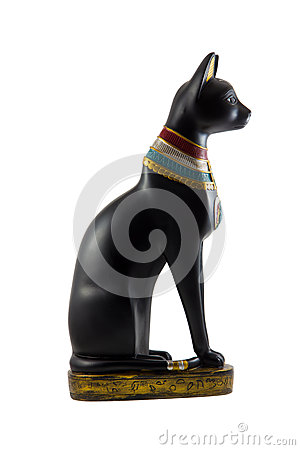 Egyptian cat statuette
