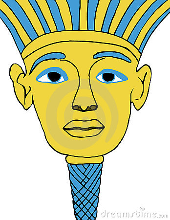 Egyptian Face Mask Illustration