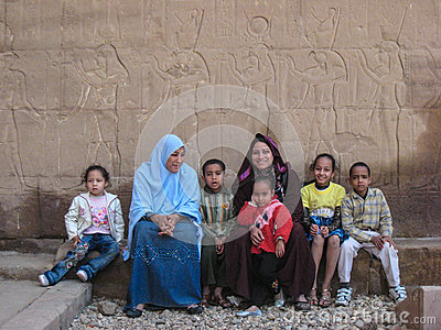 Egyptian family Editorial Image